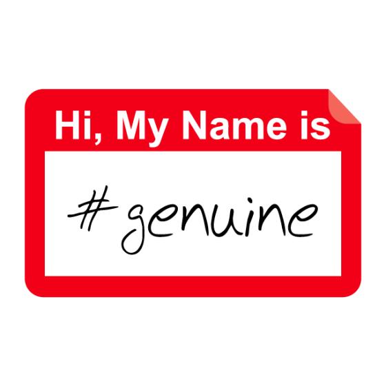 #genuine